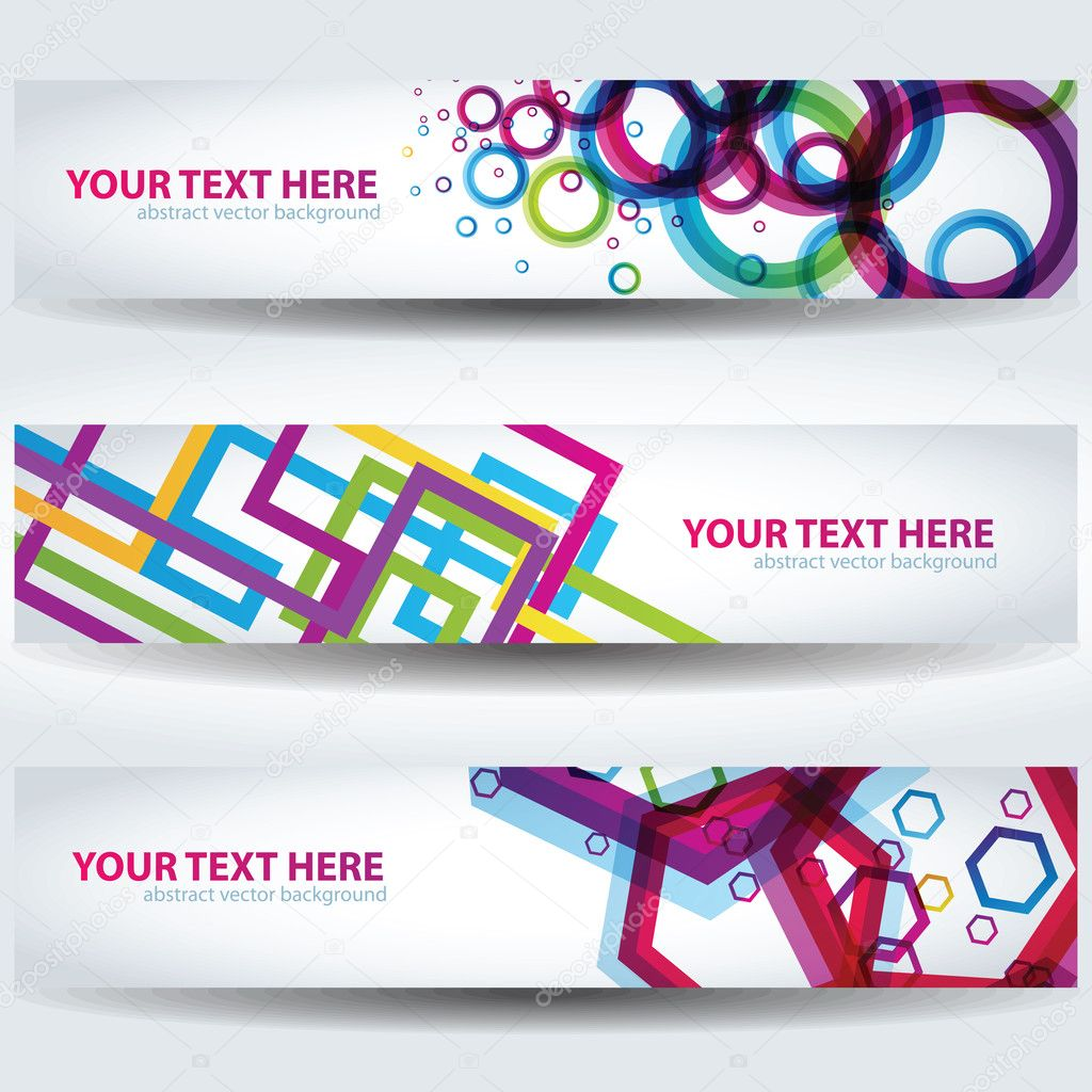 Colorful Abstract Banners. Good for using on websites  Stock Vector #7228272