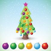 árvore de natal - ilustração vetorial — Vetorial Stock