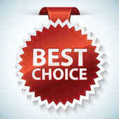 Vector best choice red label — Stock Vector
