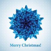Christmas snowflake illustration. — Stock Vector