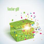 Vector editable illustration of magic gift box — Stock Vector