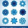 Collection of vector snowflakes — Vettoriali Stock