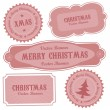 Christmas Vector Retro Design Labels — Stock Vector