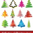 Royalty-Free Stock Vector Image: Collection of Christmas trees