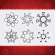 Creative christmas snowflakes — Stock Vector