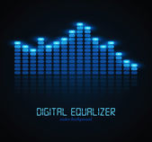 Digital Equalizer — Vector de stock