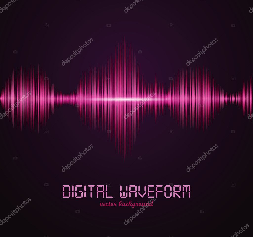 Digital waveform. Vector illustration for your artwork. — Stock Vector #7447658