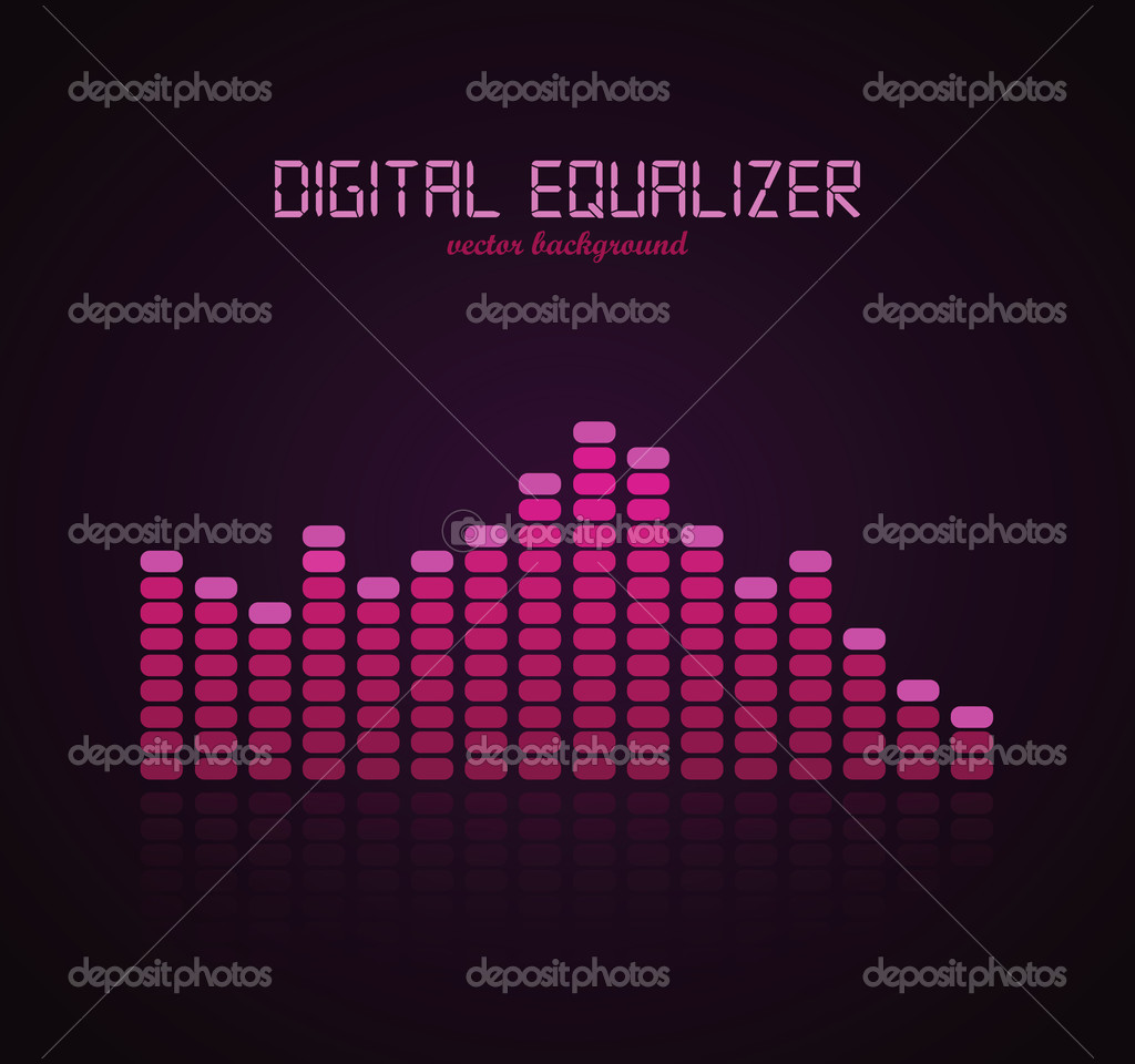 Graphic Equalizer Display. Vector illustration for your artwork. — ベクター素材ストック #7447673