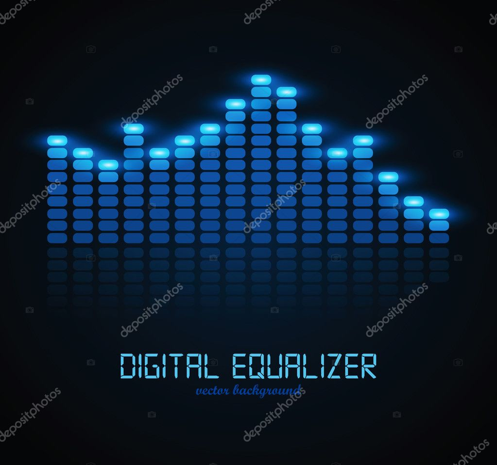 Graphic Equalizer Display. Vector illustration for your artwork. — Stock Vector #7447735
