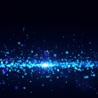 Blue lights - abstract particles flow. — Stock Photo #7499421