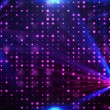 Purple disco lights background — Stock fotografie