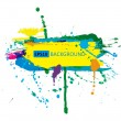 Colorful grunge banner with ink splashes — Stock Vector