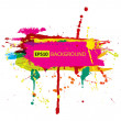 Vector de stock : Colorful grunge banner with ink splashes