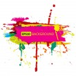 Colorful grunge banner with ink splashes - Stock Vector