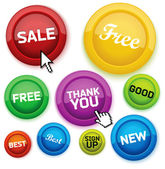 Cool glossy buttons for your business website. — Stock Vector