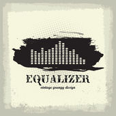 Antique vintage a art of waveform equalizer — Stock Vector