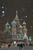 Winter night in Red Square — Stock Photo