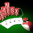 On line poker — Stock Photo #7564861