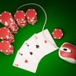 On line poker — Stock Photo