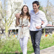 Young couple walking — Stock Photo #7064476