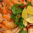 Shrimp and parsley — Stock Photo