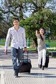 男性と女性のバッグを急いでください。 — ストック写真