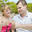 Young couple celebrating — Stock Photo