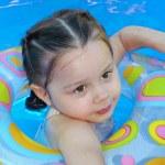 Teaching cute baby girl — Stock Photo #7362427