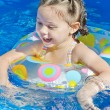 Little Girl Swimming in the Pool — Stock Photo #7362432