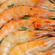 Stock Photo: Shrimp and parsley cooked close up