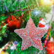Foto de Stock  : Christmas Tree Decorated