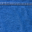 Jeans texture with seam — Stockfoto #6775239