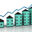 Graph houses - Stock Photo