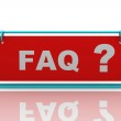 Frequently Asked Questions symbol — Stock Photo