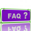 Stock Photo: Frequently Asked Questions symbol