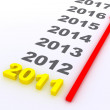 New year 2011 — Stock Photo #6996812