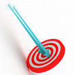 3d target with arrows  — Stock Photo