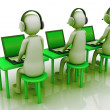 Man call center - Stock Photo