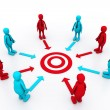 Team work target with leaders	 — Stock Photo