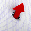 Stock Photo: Growth arrow