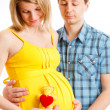 Happy family expecting their child — Stock Photo
