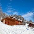 Winter holiday house - Stock Photo