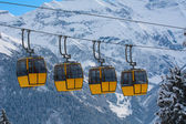 Cablecar in alps — Stock Photo