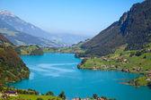 Small alpine lake — Stok fotoğraf
