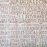 Постер, плакат: Latin writing background