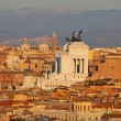 Rome at the sunset — Stock Photo