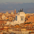 Rome at the sunset - Stock Photo