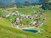 Aerial view of small swiss village — Foto Stock