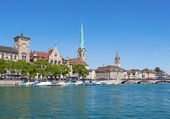 Zurich in summer — Stock Photo