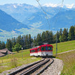 Swiss alpine cog railway — Stock Photo